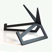 Large Black Finish Aluminum Art Display Stand 11 x 7-1/4""