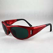 Aura Boro Glasses - Shade #3 in Leader C2 Frame (red)