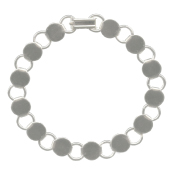 Bracelet with Round Blanks - Silver-Plated (pack of 6)