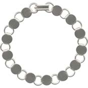Bracelet with Round Blanks- White/Silver Tone