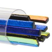 Black 3mm Narrow Sizzlestix 90 COE Dichroic 16 in. long (18 per Tube)