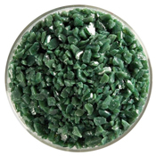 Dark Forest Green Opal Coarse Frit 90 COE  (1 Pound Jar)