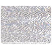 Clear Granite Herringbone Ripple Iridized Fusible 90 COE