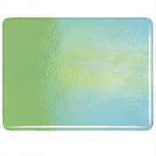 Stained Glass Sheet Caribbean Blue White Dble Rl Fusible 90COE Bullseye Mosaic