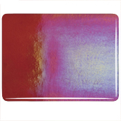 Red Double Rolled Rainbow Iridized Fusible 90 COE