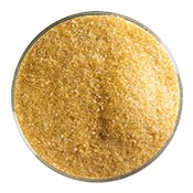Dark Amber Transparent Fine Frit 90 COE (1 Pound Jar)