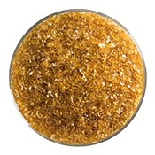 Dark Amber Transparent Medium Frit 90 COE (1 Pound Jar)