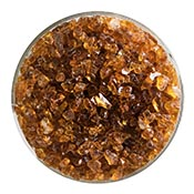Dark Amber Transparent Coarse Frit 90 COE (1 Pound Jar)