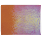 Sunset Coral Thin Roll Iridized Fusible 90 COE