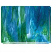 Azure Blue Opal/ Jade Green Opal/ Neo-Lavender Double Roll Fusible 90 COE