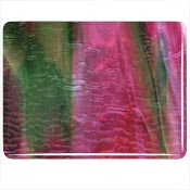 Cranberry Pink/ Emerald Green/ White Ripple Fusible 90 COE