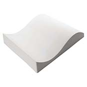 Double Curve Ceramic Slumper Mold - 15.9 x 13.6 in.