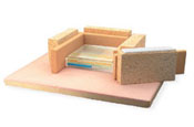 Hot Brick (Brix) 9 x 2-1/4 x 2-1/2 in. clay bracer