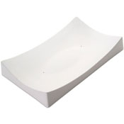 Rectangle Slumper Ceramic Slumper Mold - 12.2 x 7.4 x 1.7 in.