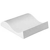 Small Double Curve Ceramic Slumper Mold - 9.4 x 8.7 in.