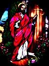 Jesus Knocking Hand Painted Medallion