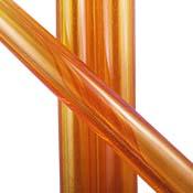 Thomas Transparent Orange Tube 33 COE (1/4 lb. minimum order)
