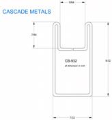 9/32 in. Border U Copper Came (sub for CHI 2501C)