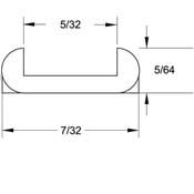 15 lb. Spool - 5/64 x 5/32 in. U-Round Lead Came