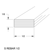 1/2 x 1/8 in. Steel Rebar (sub for CHI 2903)