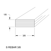 3/8 x 1/8 in. Steel Rebar (sub for CHI 2901)