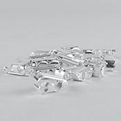 Fold-over Clasp Silver-Plated (pack of 24)