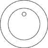6 in. Circle with 1/2 in. Bevel - Polished - hole