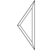 3 x 5 in. Diamond Side Bevel