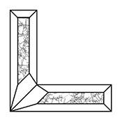 Glue Chip 2 x 4 in. Corner Bevel Set (L & R)