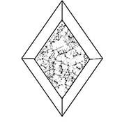 Glue Chip 3 x 5 in. Diamond Bevel