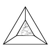 Glue Chip 3 in. Triangle Bevel