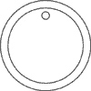 3 in. Circle-1/8 in. Bevel - Polished - with Hole