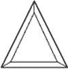 3 x 3 x 4-1/4 in. Isosceles Triangle Bevel