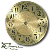 Clarity Brass Clock Face (7 in.)
