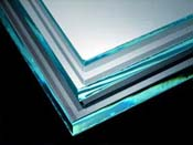 Diamant Crystal Clear Cathedral 3/4 in. thick 12 x 12 in. sheet