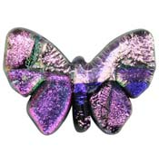 Fused Glass Butterfly Shape 1 x 1-1/4 in. - 96 COE
