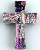 Fused Glass Cross Shape 1-1/4 x 1 in. - 96 COE