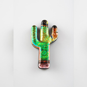 Fused Glass Cactus Shape - 96 COE