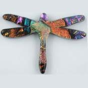 Fused Glass Dragonfly Shape 1-1/2 x 2 in. - 96 COE