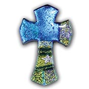 Fused Glass Gothic Cross Shape 1-1/2 x 1 in. - 96 COE