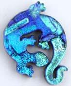 Fused Glass Gecko Shape 1-3/4 x 1-1/4 in. - 90 COE