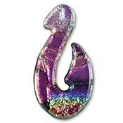 Fused Glass Hook Shape 1-1/2 x 3/4 in. - 96 COE