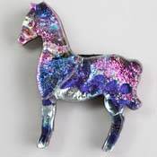 Fused Glass Horse Shape 1-1/2 x 1-1/2 in. - 96 COE