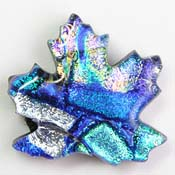 Fused Glass Maple Leaf Shape 1-1/4 x 1-1/4 in. - 90 COE