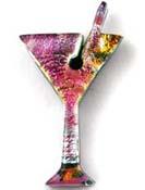 Fused Glass Martini Shape 1-3/4 x 1 in. - 90 COE