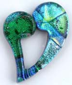 Fused Glass Open Heart Shape 1-3/4 x 1-1/4 in. - 96 COE