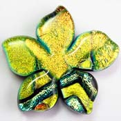 Fused Glass Plumeria Shape 1-1/4 x 1-1/4 in. - 96 COE