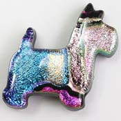 Fused Glass Scottie Dog Shape 1-1/4 x 1-1/4 in. - 90 COE