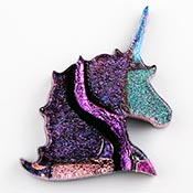 Fused Glass Unicorn Shape 1-1/4 x 1-1/2 in. - 96 COE
