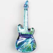 Fused Glass Guitar Shape 2 x 3/4 in. - 96 COE